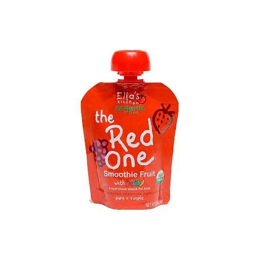 Ella's Kitchen Organic Smoothie Fruits, The Red One, 3-Ounce Pouches (Pack of 7) ( Value Bulk Multi-pack) by Ella's Kitchen -