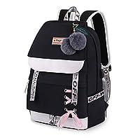 Asge Girls Backpack School Bags for Girls Nylon Waterproof College Rucksack Fashion Casual Daypack Women Bookbag Boys Schoolbag Teenagers Durable Unisex Student Backpacks