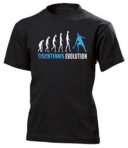 Tischtennis Evolution Sport 547 Shirt Tshirt Fanartikel Fanshirt Kids Jungen Mädchen Unisex Sportbekleidung Kinder T-Shirts Schwarz Aufdruck Blau 152