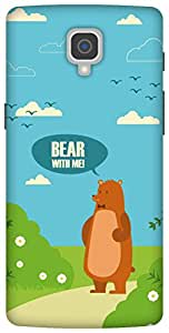 The Racoon Grip printed designer hard back mobile phone case cover for Oneplus 3. (Bear with)