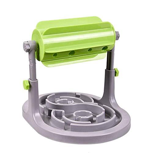 Monlook Haustier Hunde Futter Futterspender Spielzeug Slow Down Essen Training Roller Geformt Futter Spender Spielzeuge (Roller Essen)