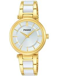 Pulsar Damen-Armbanduhr Analog Quarz Edelstahl beschichtet PH8194X1
