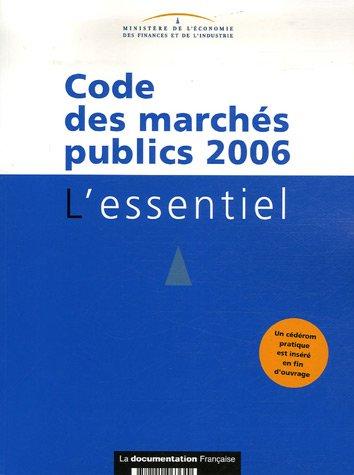 Code des marchés publics (1Cédérom)