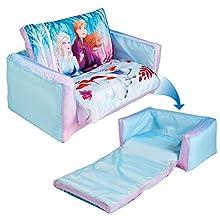 Disney 286FZN - Lettino e Divano Gonfiabile 2 in 1 per Bambini, Colore Blue