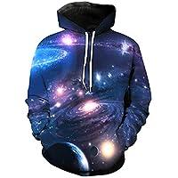 MEIXIA Suéter Estampado 3D / Galaxy Vortex/Suéter De Bolsillo/Chaqueta con Capucha -3XL