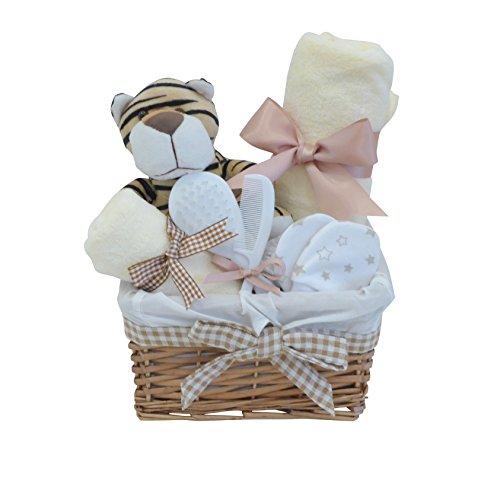 Signor tigre vimini neutro Baby Cestino regalo/bambino/bambina/bambino regalo regalo cestino/cestino/maternità Unisex Baby doccia/nuovo arrivo regalo/regalo regalo regalo/spedizione veloce