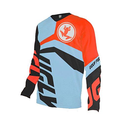 Uglyfrog Inverno Termico Vello Manica Lunga Maglia Downhill DH/AM/XC/FR/MTB/BMX/Moto/Enduro Abbigliamento Maglia da Ciclismo