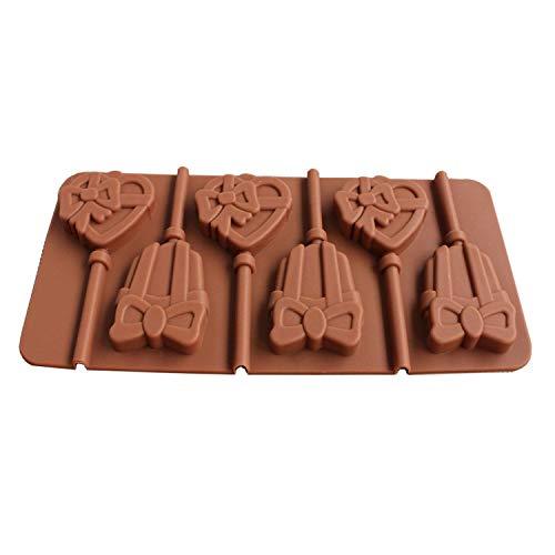 1 Stück/Set Silikon Lutscher Form Schokolade Kuchen Fondant Keks Pudding Formen DIY Backen Kuchen Dekorieren Werkzeug, Edelstahl, g, Einheitsgröße Pudding Swag