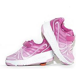 Envio 24H Zapatillas con Ruedas Color Rosa Talla 28 Hasta 35 Envio Desde España (EU28, Rosa)