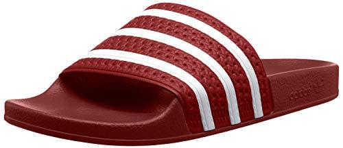 Adidas Adilette, Unisex-Erwachsene Badeschuhe, Rot (Light Scarlet/White/Light Scarlet), 42 EU 8 UK