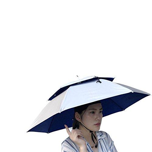 Mymyguoe Paraguas de la Novedad Regalo Sombrero para el Sol Golf Pesca Acampar Disfraces Sombrilla de sombrilla Protector Solar para Exteriores Plegable Gorro de Lluvia Pesca