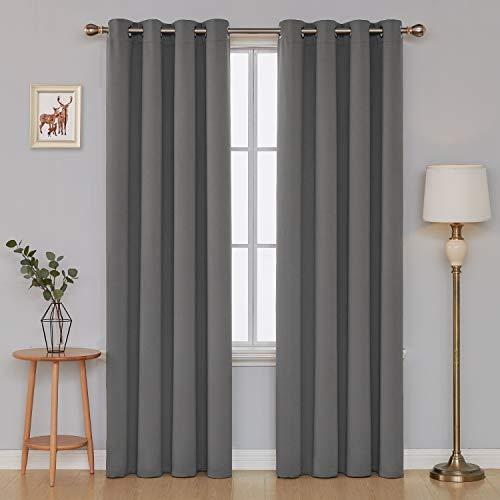 Deconovo tende oscuranti termiche isolanti tende da sole finestre soggirono con occhielli per camera da letto 140x290 cm grigio chiaro 2 pannelli