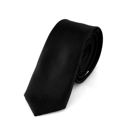 duenne krawatte DonDon Schmale schwarze handgefertigte Krawatte 5 cm // verschiedene Farben wählbar