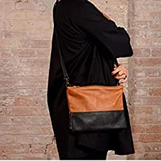 Petit sac en cuir marron et noir, sac en cuir, sac en cuir, sac à main,  petit. 53f7c6eb8d7