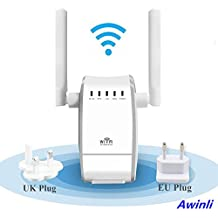 Wireless Router Extensor Enrutador Inalámbrico de Red WiFi 300Mbps Mini Wireless Extensor de Rango AP Amplificador Full Coverage Route Repetidor Booster Wireless-N 2.4GHz Universal EU Enchufe (N300, WPS)