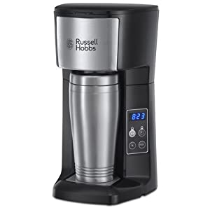Russell Hobbs 22630 Brew & Go Coffee Maker Brews ground coffee Permanent coffee filter No paper filters required - saves money and the environment Includes 450ml Stainless Steel travel mug 24 Hour programmable timer -