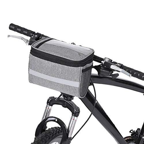 VGBEY Bolsa Delantera para Bicicleta, Bolsa de Almacenamiento de Tubo Superior para la Barra de Manillar de Ciclismo para MTB Road Mountain Bike