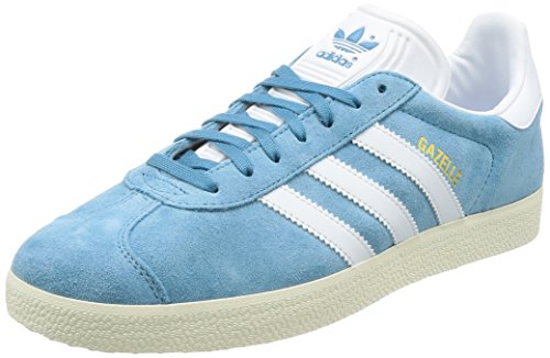 Adidas Herren Gazelle Sneakers Blau (acciaio Tattile / Calzature Bianco / Oro Metallizzato)