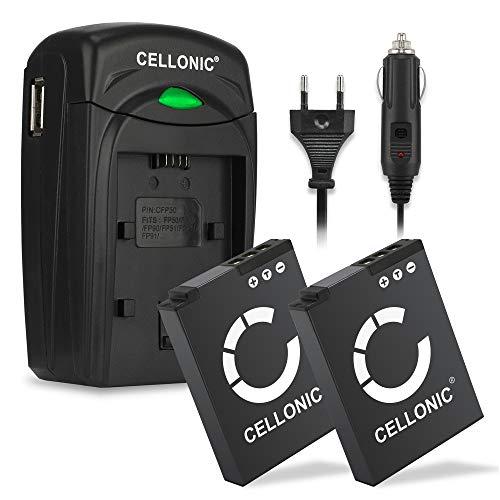 Cellonic 2X Batteria EN-EL12 Compatibile con Nikon CoolPix A900 W300 S9900 S9700 S9500 S9300 S9100 S8200 S6300 AW130 AW100s AW110s Keymission 170 360 Accu EN-EL12 Caricabatteria MH-65 Caricatore Auto