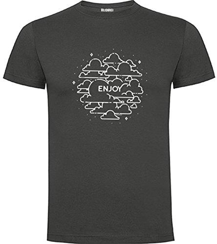 Wolkenbruch T-Shirt Enjoy, Strand Freizeit Vers. Farben Gr. S bis XXXXXL Graphitgrau
