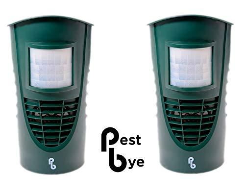 PestBye 2er-Set Katzenvertreiber mit Ultraschall