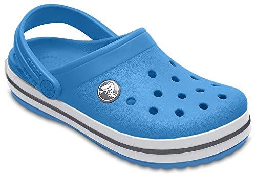 Crocs Unisex-Kinder Crocband Kids Clogs, Blau (Bright Cobalt-Charcoal 4jn), 30/31