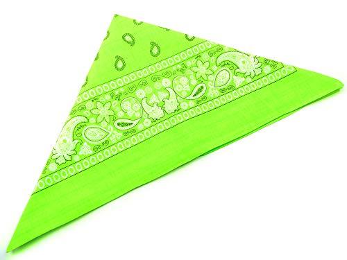 Evil Wear Nickituch Paisle. Muster neon grün 56x56cm green