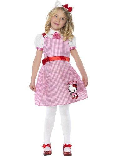 o Kitty Kostüm Kittykostüm für Mädchen Katze Sommerkleid Sommer Kleid rosa rot Gr. 98-104 (T2), 110-122 (S), Größe:T2 (Hello Kitty Kostüm Für Mädchen)