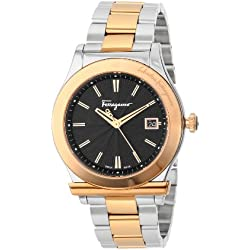 Ferragamo Men's F62LBQ9509 S095 1898 Gold IP Coated And Stainless-steel Date Watch