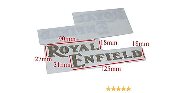 Enfield City County Paar Golden Vinyl Royal Enfield City Fuel Tank Logo Badge Emblem Monogramm Auto
