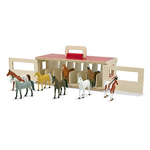 Melissa & Doug- Take-Along Show Horse Stables Establo