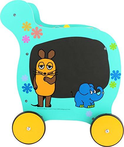 Small Foot Design 10495 Sendung Lauflernwagen aus Holz mit Motiven aus Der Maus vielseitiger Spielspa/ß f/ür Kinder ab 2 Jahren Lauflernhilfe zur F/örderung der motorischen F/ähigkeiten