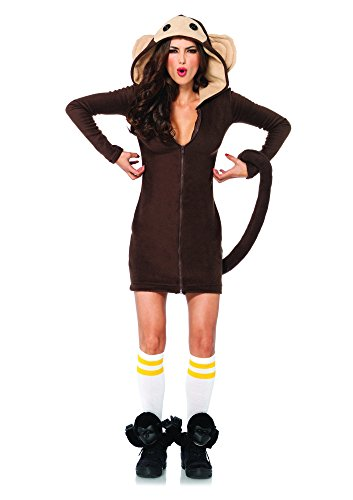 Leg Avenue 85309 - Cozy Monkey Kostüm, Größe L, braun (Sexy Banane Halloween Kostüme)