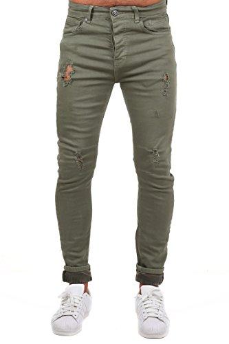 Hose Deutsche Camouflage (NDN Herren Slim Fit Hose (W32, Grün))