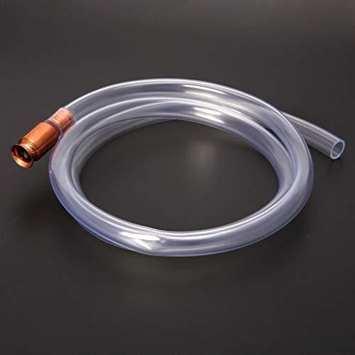 JOYKK Gassiphonpumpe Benzin Kraftstoff Wasser Shaker Siphon Sicherheit Selbstansaugendes Schlauchrohr - Transparent -