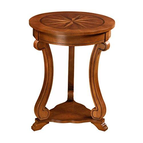 tables de chevet Table De Chevet Table Basse En Bois Massif Canapé Tables D'appoint Tables Basses Table D'appoint Mobilier De Table Moderne (Assemblé, Taille: 46 * 59cm, Couleur Noyer)