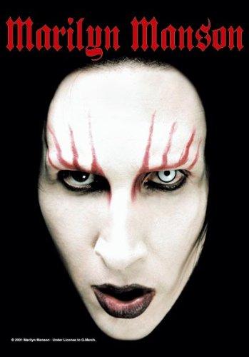 Manson, Marilyn-Head Shot-Bandiera Poster 100% poliestere-dimensioni 75x 110cm