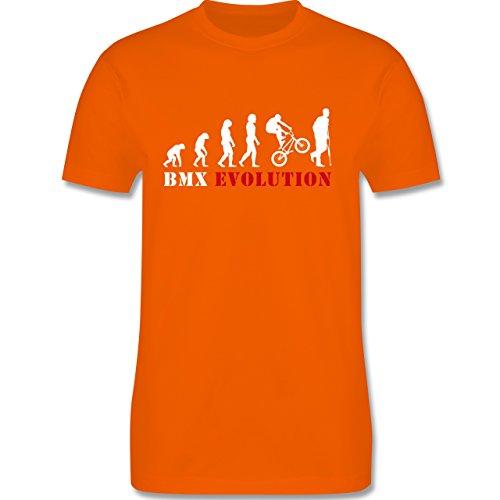 Shirtracer Evolution - BMX Evolution - Herren T-Shirt Rundhals Orange