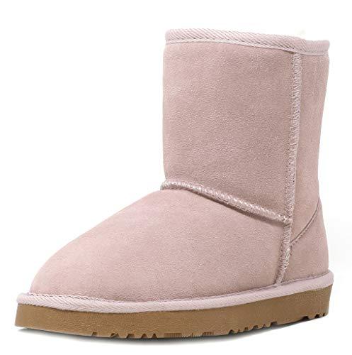 Dream Pairs Boys Girls Sheepskin Fur Winter Snow Boots (Toddler/Little Kid/Big Kid)