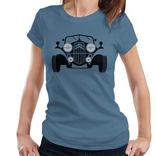 Citroën Vintage Car T-shirt for Women, Indigo Blue, Royal Blue or White