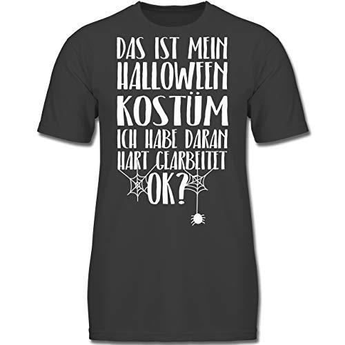 Anlässe Kinder - Das ist Mein Halloween Kostüm - 116 (5-6 Jahre) - Anthrazit - F130K - Jungen Kinder T-Shirt