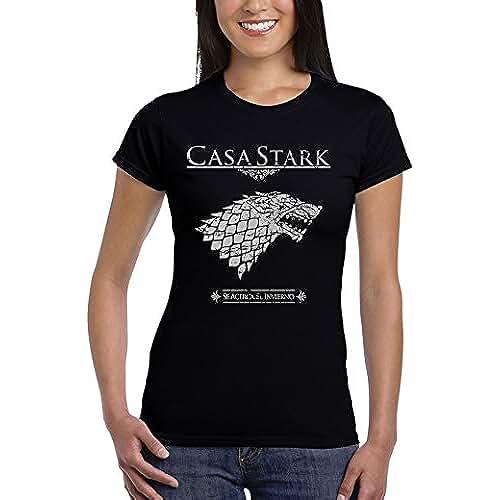 dia del orgullo friki 162-Camiseta Mujer Juego De Tronos - Casa Stark