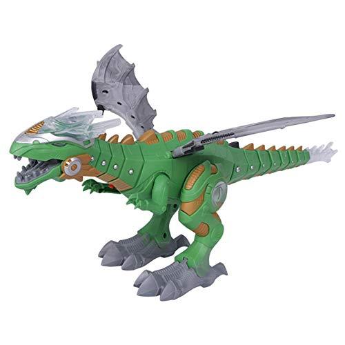 Homelectric Inc Dinosaurios eléctricos, Juguete para niños, Robot, Modelo con luz de Sonido