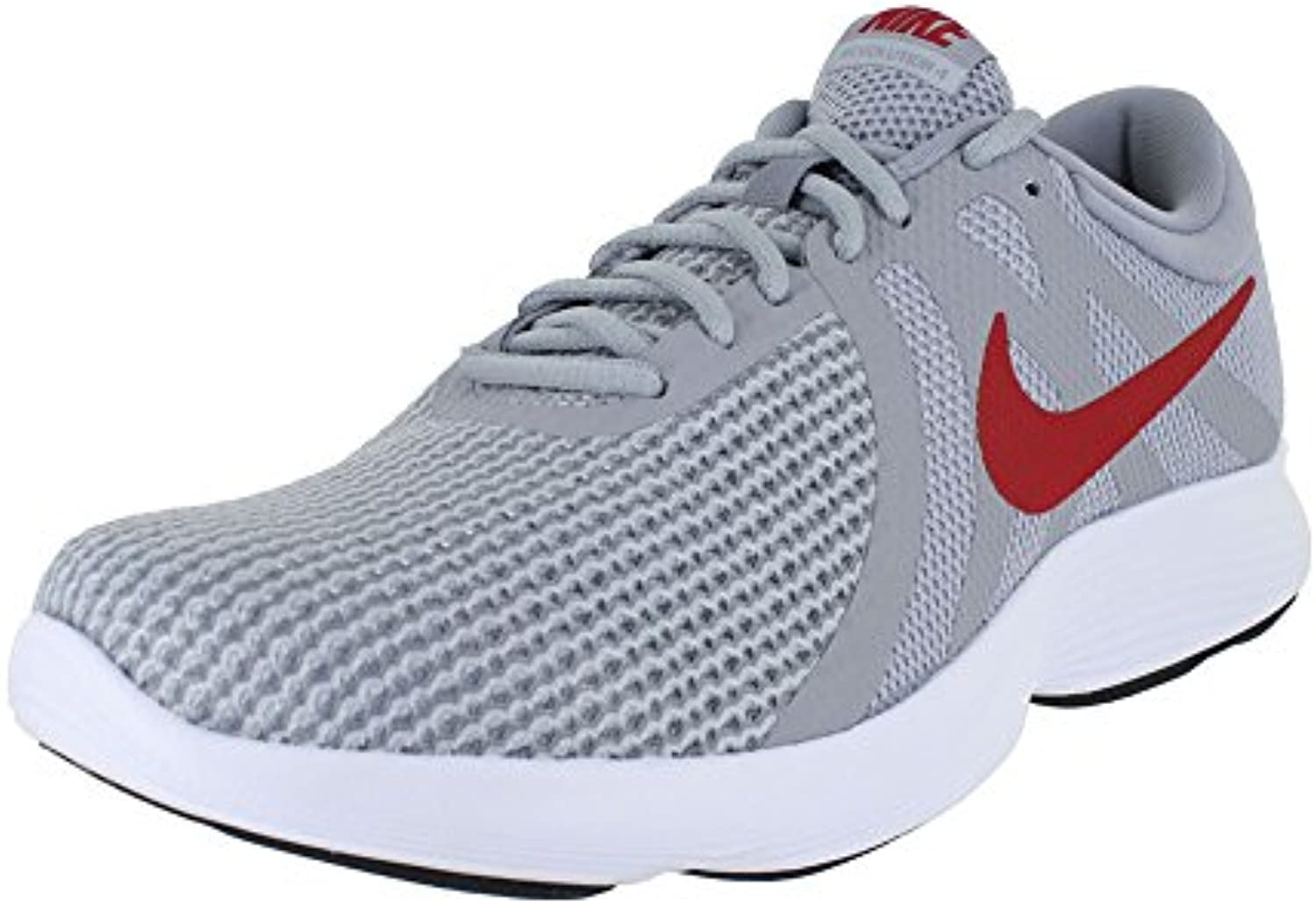 Nike Men's Revolution 4 Running Shoe Wide 4E Wolf Grey/Gym Red/Stealth Size 8.5 Wide 4E