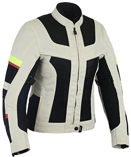 58e14620576 Chaqueta tricapa perforada de verano para moto (Mujer) (L)
