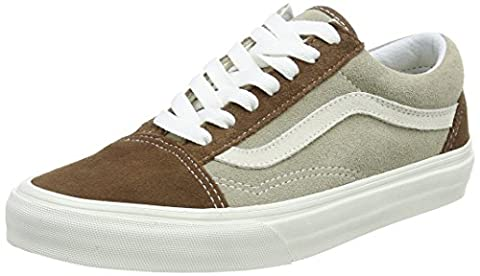 Vans Old Skool, Unisex Adults' Low-Top Sneakers, Black (Vintage - Dark Earth/Aluminum), 4 UK (36 1/2