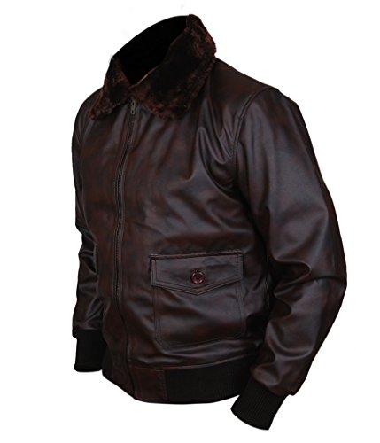 F&H Men's Top Gun Dual Shade Bomber Jacket brown