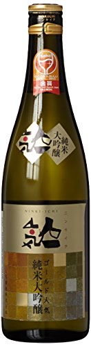 Ninki Premium-Sake (Reiswein) Gold Label Junmai Daiginjo (1 x 0.72 l)