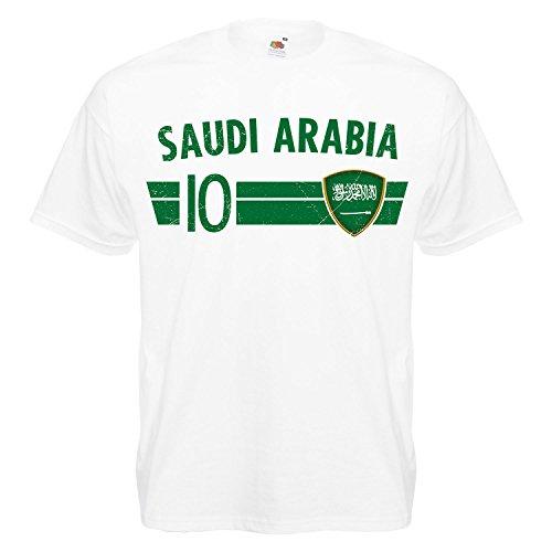 Fußball WM T-Shirt Fan Artikel Nummer 10 - Weltmeisterschaft 2018 - Länder Trikot Jersey Herren Damen Kinder Saudi Arabien Arabia XL