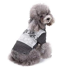 Jannyshop Pet Dog Tricots de Noël Pull à col roulé Chien Hiver Keep Warming Coat (XS-L)